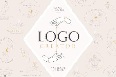 Line Hands & Logo Creator