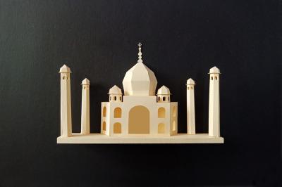 DIY Taj Mahal Wall art - 3d papercraft