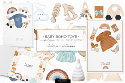 Baby boho toys collection