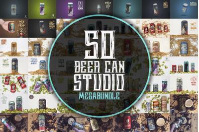 Beer Can Studio Mockups Megabundle x50