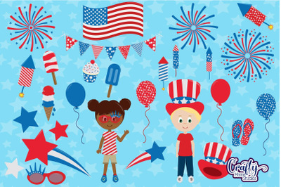 July 4th Clipart, Independence Day Clip Art, Fourth Of July