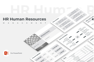 HR Human Resources PowerPoint Presentation Template