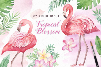 Tropical Blossom Watercolor Set