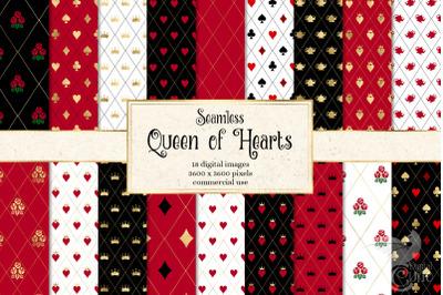 Queen of Hearts Digital Paper