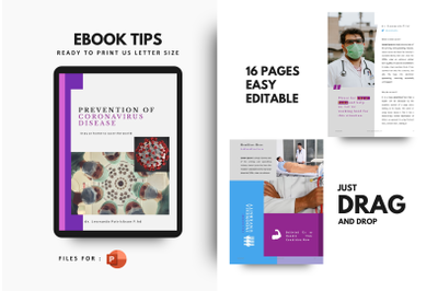 Healthy tips ebook powerpoint template