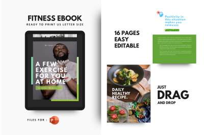 Daily fitness at your home ebook powerpoint template