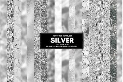 Silver seamless textures