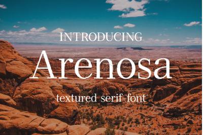 Arenosa   textured serif font