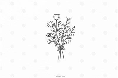 Flower bouqet svg cut file