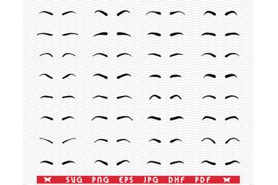 SVG Eyebrows, Tattoo Design, Digital clipar
