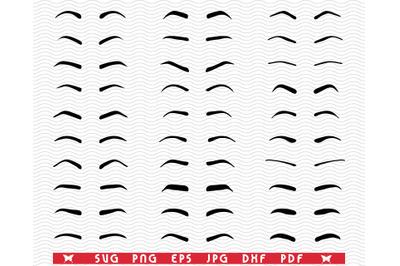 SVG Eyebrows, Tattoo Design, Digital clipart