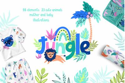 Cute Jungle Animals Bundle