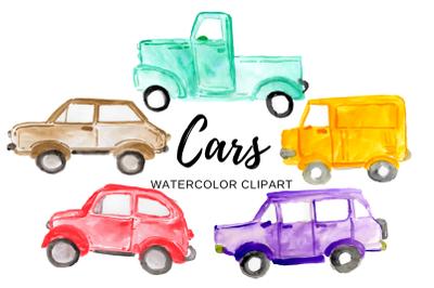 Watercolor car clipart