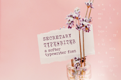 SALE! Secretary Typewriter font