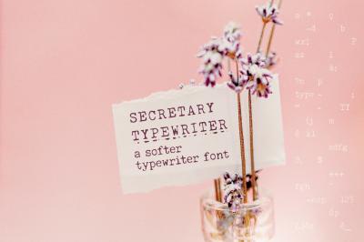 Secretary Typewriter font