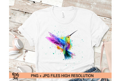 Watercolor hummingbird, Bird Clipart, sublimation designs downloads