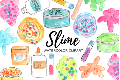 Watercolor slime clipart
