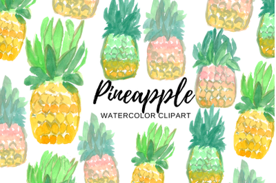 Watercolor Pineapple clipart
