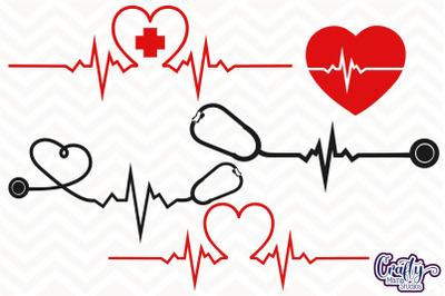 Heartbeat Svg, Heart Beat Svg, Heartbeat Clipart, Pulse Svg
