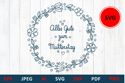 svg Happy mother's day greeting card in Deutschland