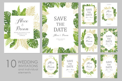 Wedding invitations set #3