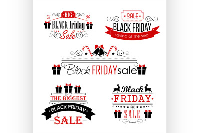 Black Friday Sale Calligraphic Designs set on white background