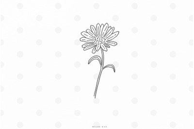 Daisy flower svg cut file