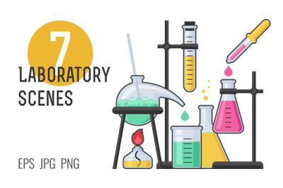 7 laboratory scenes