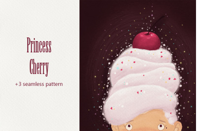 "Illustration ""Princess Cherry"""