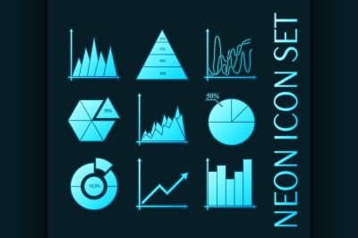 Set of Business charts, statistic, diagrams icons.