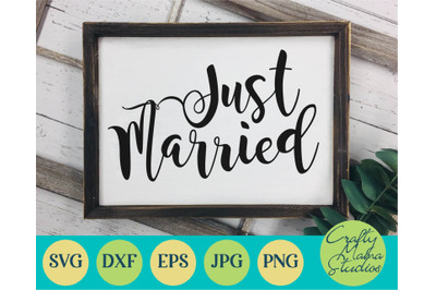 Just Married Svg, Wedding Svg, Marriage