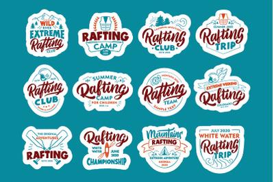 Set of Rafting logos