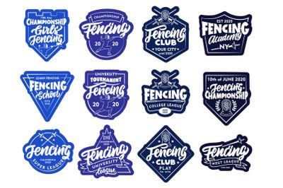 Set of Fencing logos
