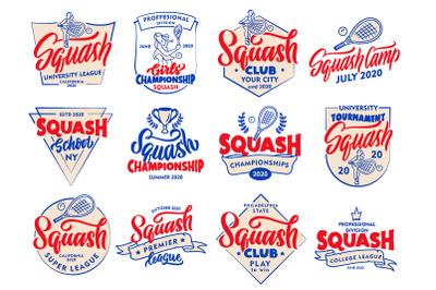 Set of vintage Squash logos