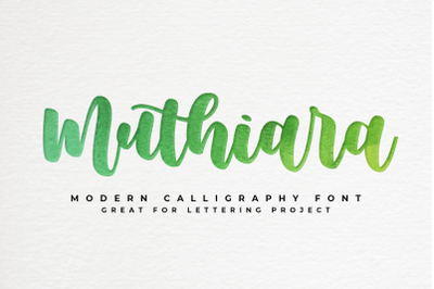 Muthiara - bouncy calligraphy -