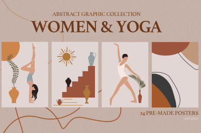 Woman and Yoga. Abstract collection