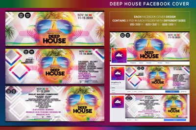 Deep House Facebook Event Cover