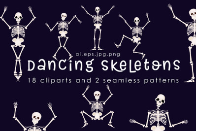 Dancing Skeletons Clipart
