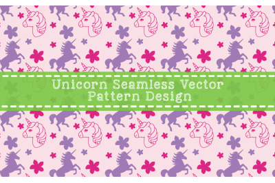 Unicorn Seamless Vector Pattern Design
