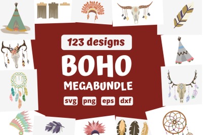 123 BOHO MEGABUNDLE svg bundle, boho cricut svg