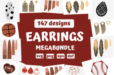 147 EARRINGS MEGABUNDLE svg bundle, earrings cricut svg