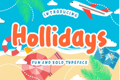 Hollidays Fun Children Typeface