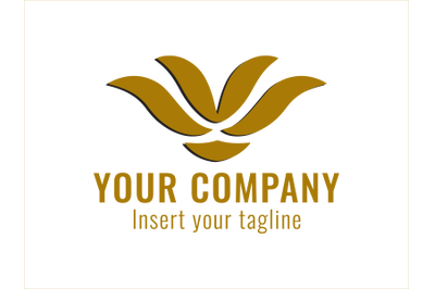 Logo Gold Plant Growth Icons