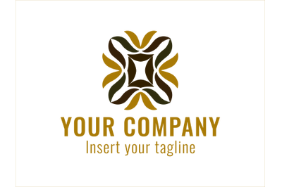 Logo Gold Colorful Plant Style