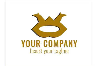 Logo Gold Horned Ornament Style