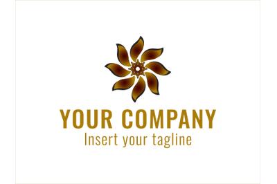 Logo Gold Fan Rotating Icon