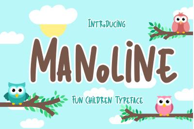 Manoline Fun Children Typeface