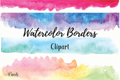 Watercolor Borders Clipart
