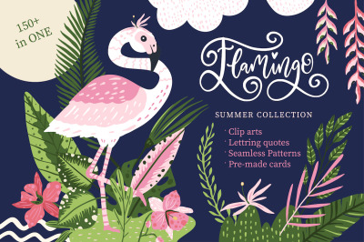Flamingo. Big summer collection.