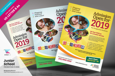 Junior School Promotion Flyer Template